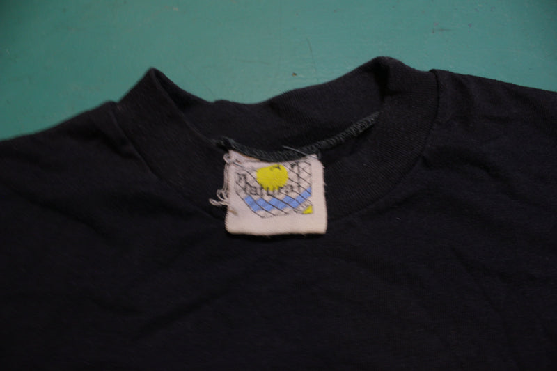 Corona Mexico Beer Vintage 80's Single Stitch Black T-Shirt
