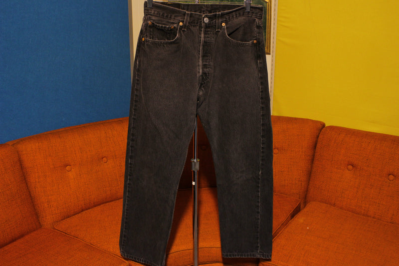 Women's 90s Levis 501 Button Fly Jeans. Vintage, Made in USA 501 29 x 27