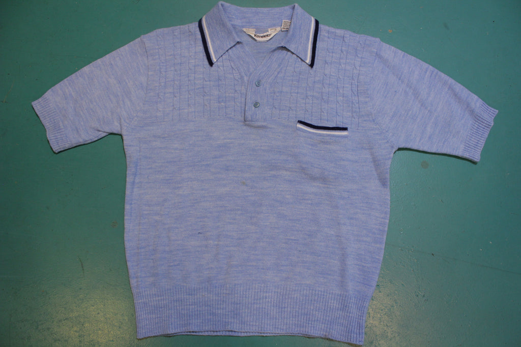 Kentfield Vintage Knit 1970's Mod Disco Polo Shirt