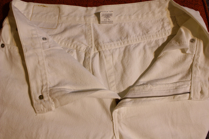 Levis White 550 Made in USA Women's Jeans Vintage 1980's Mint Denim One Wash