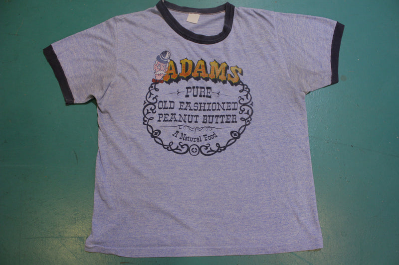 Adams Pure Old Fashioned Peanut Butter Ringer Vintage Single Stitch T-Shirt