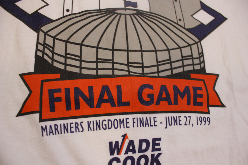 Kingdome Final Game Mariners VS Rangers 1999 90's Vintage Seattle T-Shirt