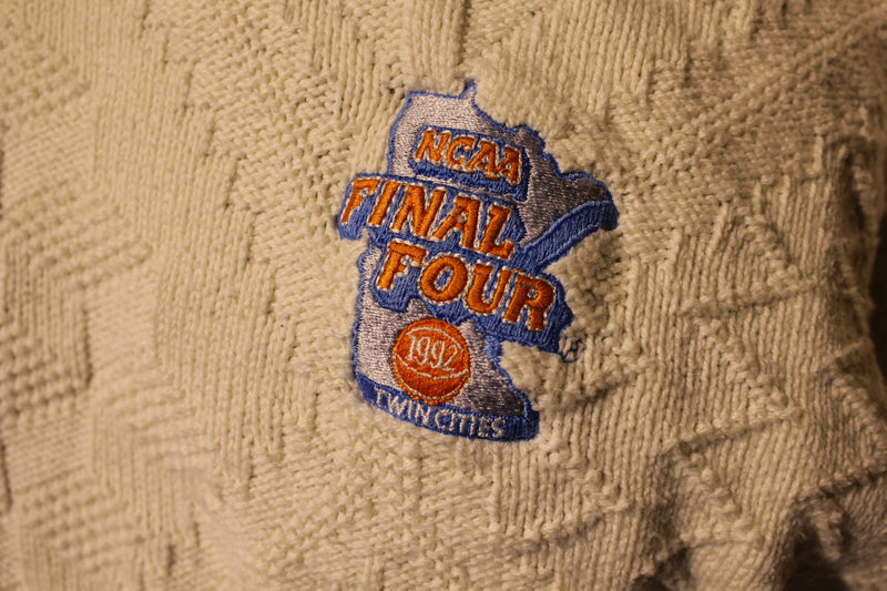 NCAA Final Four 1992 Twin Cities Velva Sheen USA Vintage 90's Sweater