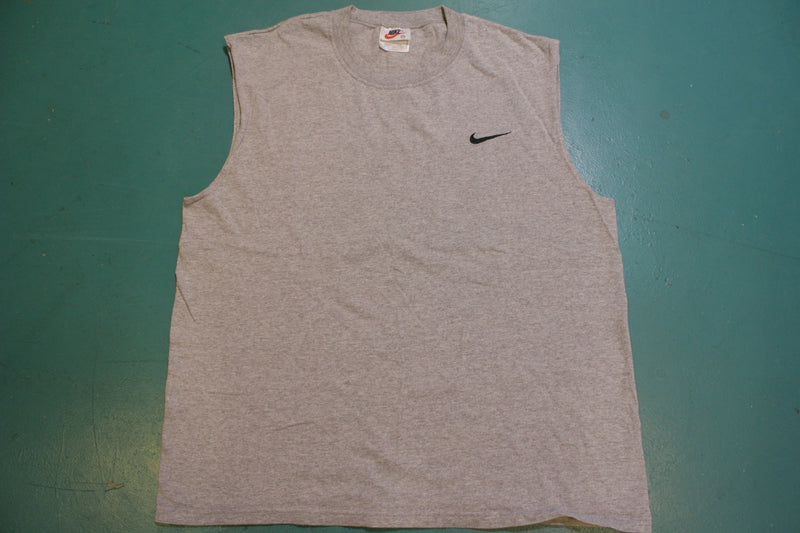 Nike Sleeveless Muscle Tank Top Made in USA  90's Vintage Swoosh Check T-Shirt