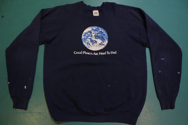 Good Planets Are Hard To Find Made in USA 90's Vintage Nasa Sweatshirt Crewneck