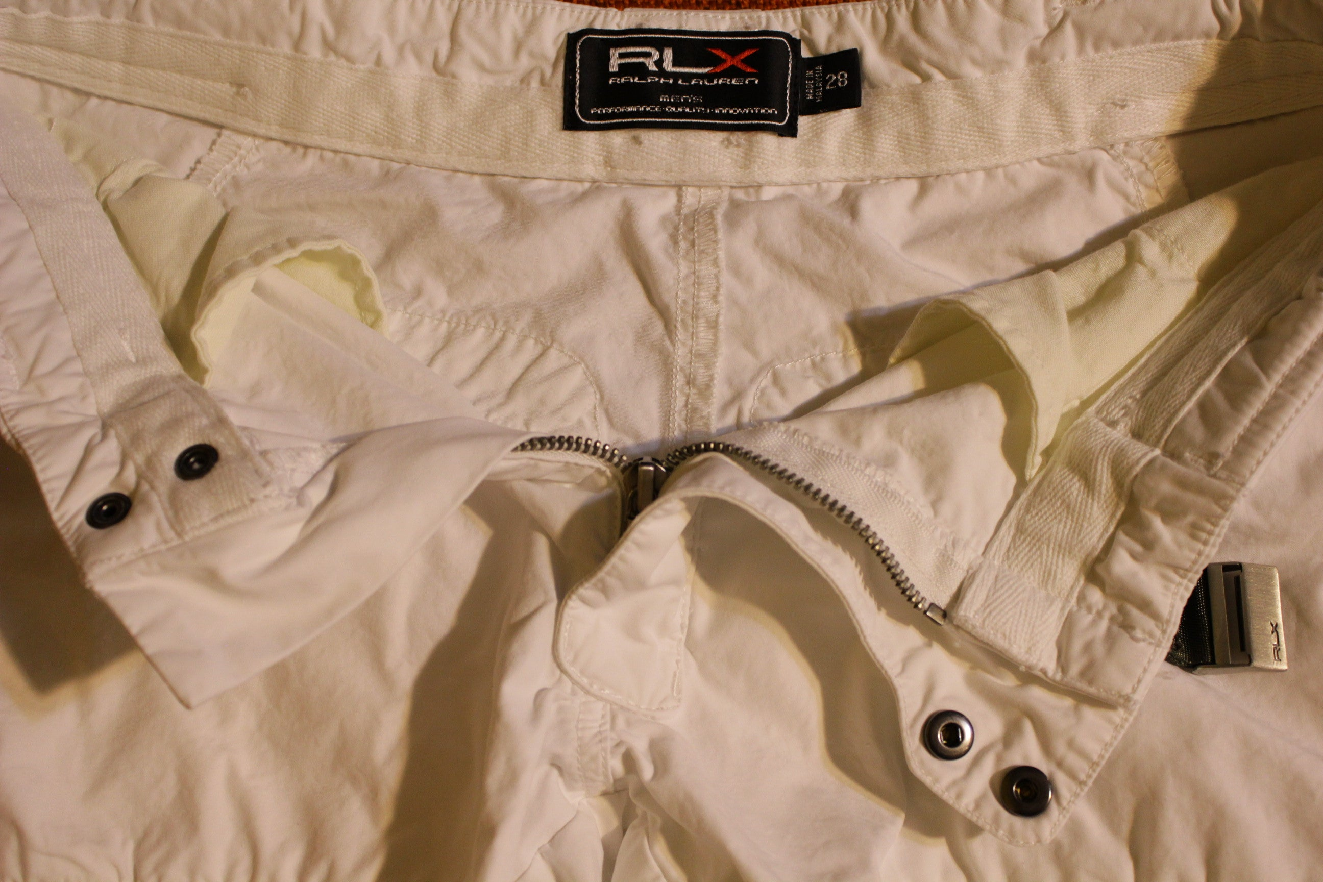 Ralph Lauren RLX Vintage Military White Cargo Flight Pants 28 x 30 Mens