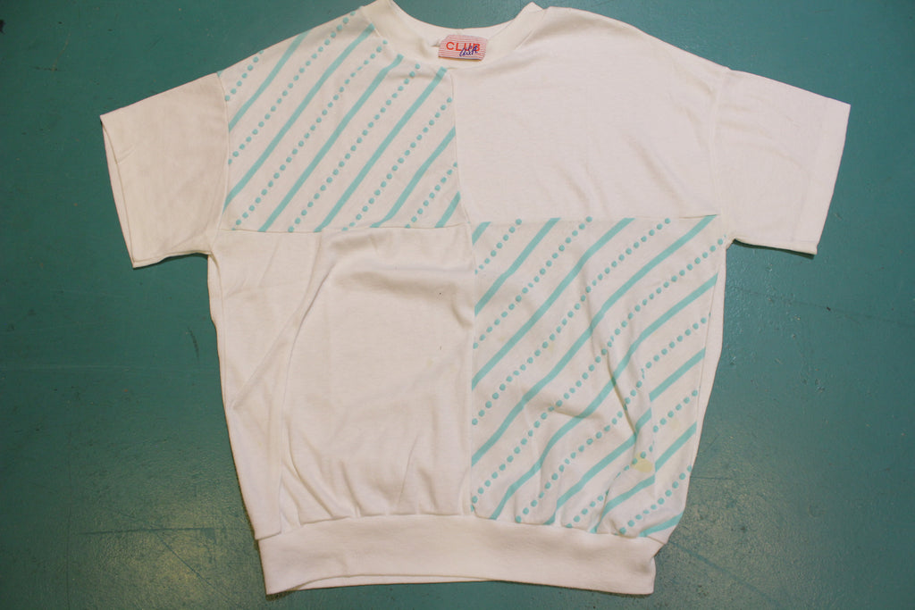 Club USA Women's Seafoam Green New Wave 80's Vintage Single Stitch T-Shirt