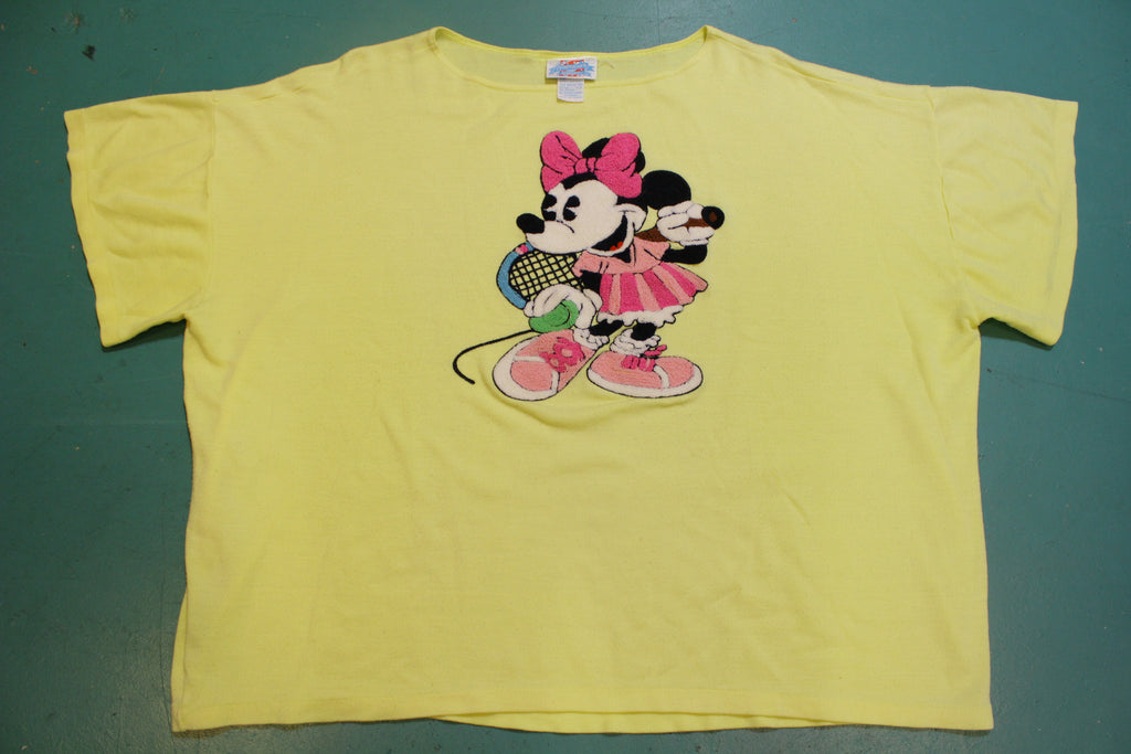 Minnie Mouse Women's Needle Point Hand Stitched 80's Vintage Single Stitch T-Shirt