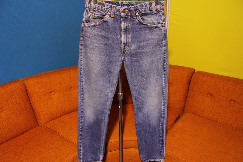 Levis Vintage 80's Faded 505 Orange Tab USA 31 x 29 Jeans. Regular Fit Straight Leg