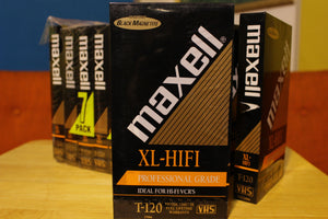 Maxell XL-HIFI T-120 Blank VHS Tapes Lot Of 10 New Sealed