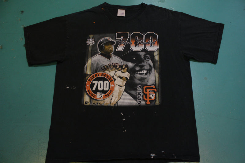 Barry Bonds 700 Club SF Giants Majestic Official Vintage 2004 T-Shirt