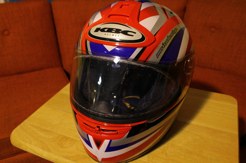KBC Vision Patriot Motodesign Street Motorcycle Helmet - Knievel USA Colors