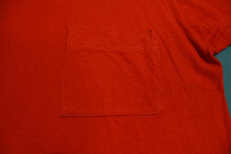 Fruit of the Loom Blank Square Selvedge Pocket Vintage 70's Single Stitch USA T-Shirt
