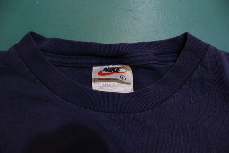 Team Nike 1990's Vintage Made in USA Long Sleeve Small 90s T-Shirt