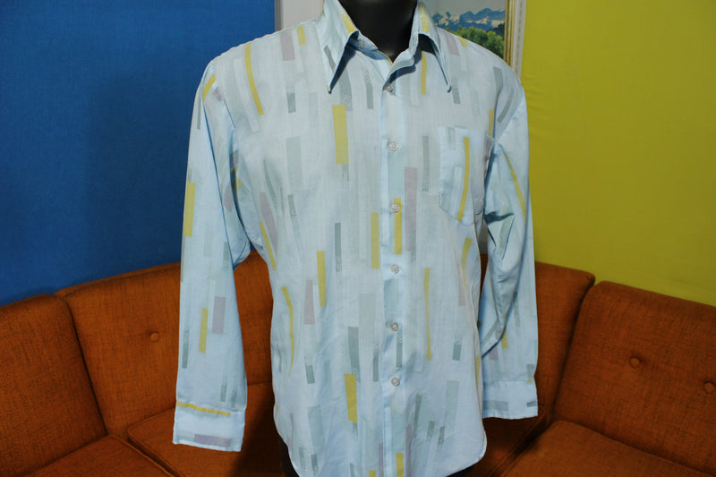 Kmart 70's Disco Flamboyant Long Sleeve Button Up Shirt. Single Pocket.