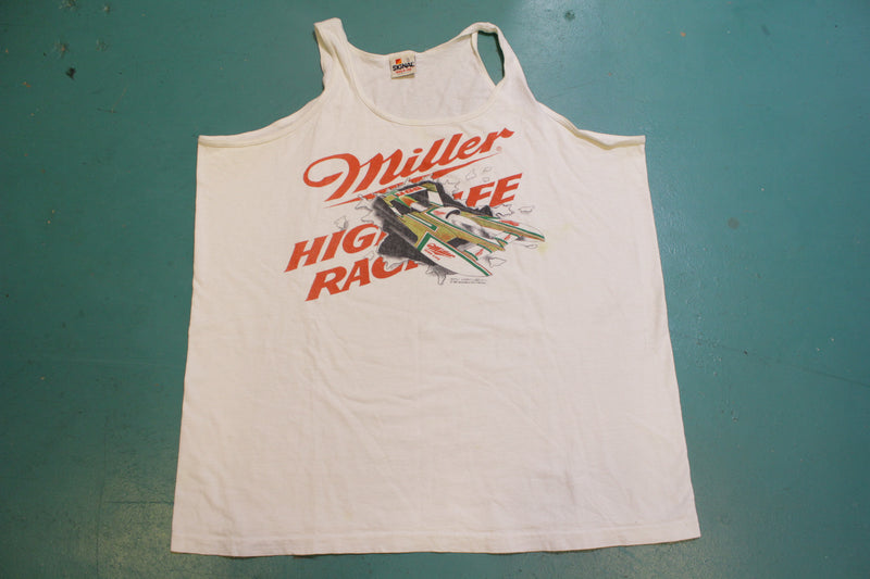 Miller High Life Racing Hydroplane 1988 Gary Ebert Vintage 80's Single Stitch Tank Top
