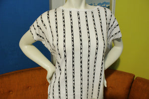 California Filly Vintage 80's Striped Pyramid Women's Top Shirt USA Made