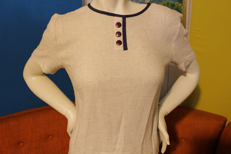 John Roberts Purple Button 80's Vintage Short Sleeve Women's Top Shirt