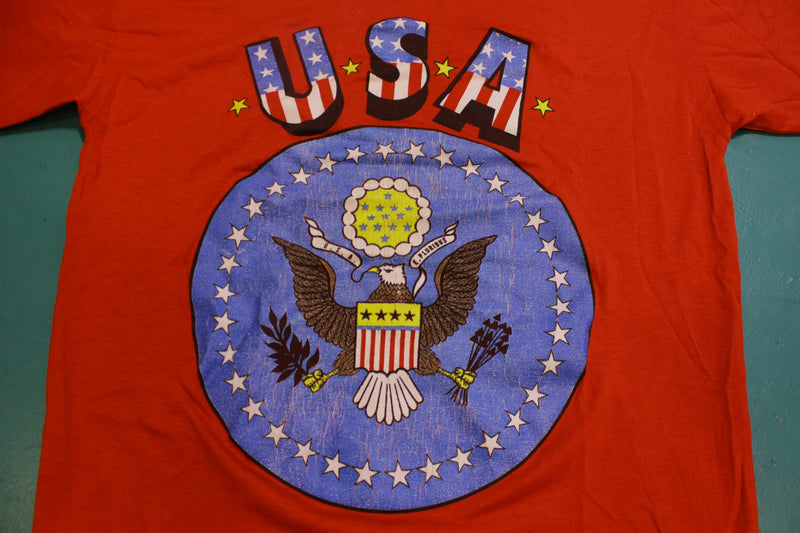 USA Vintage Great Seal E.Pluribus Eagle Vintage 80's T-Shirt