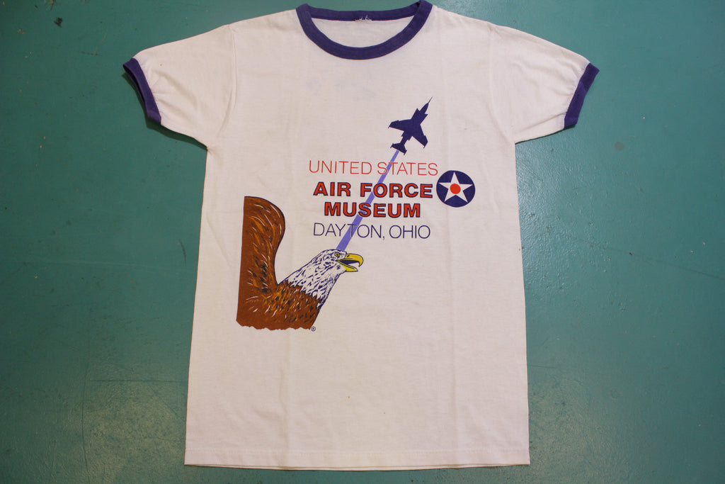 United States Air Force Museum Dayton Ohio Vintage 80's Ringer T-Shirt
