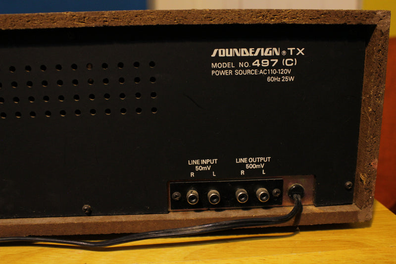 Soundesign Silver Face TX-497 Cassette Deck for Parts or Repair Only 1980