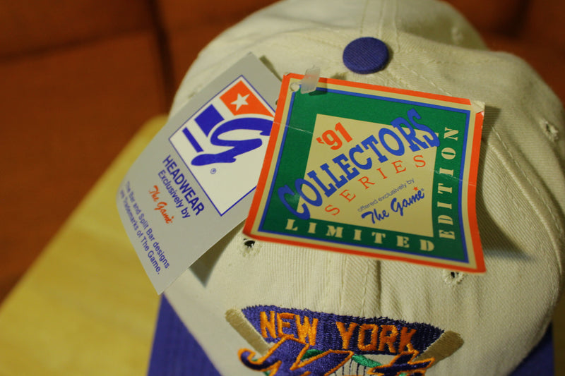 NY Mets The Game 1991 Vintage Glued Tag Collectors Hat NWT 90's Limited Edition