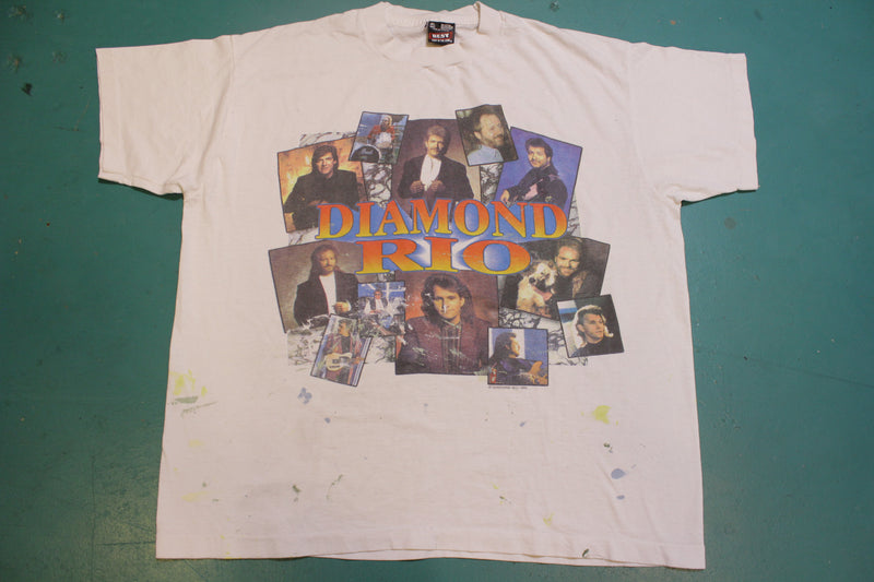 Diamond Rio 1995 Group Collage 90s Single Stitch Concert Band T-Shirt