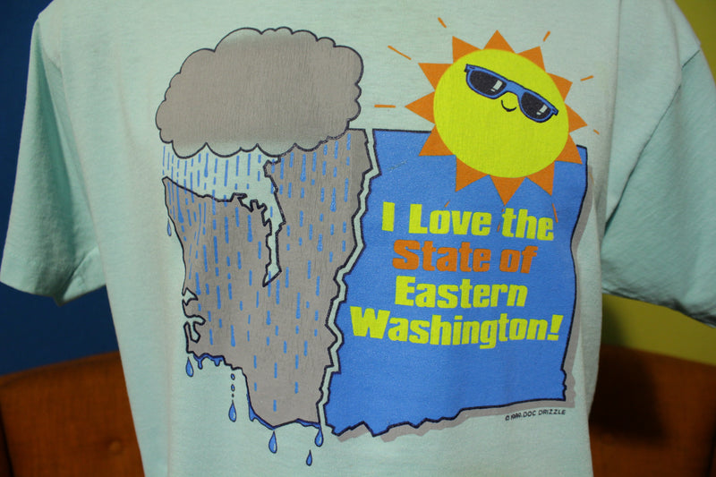 I Love The State of Eastern Washington Vintage 1989 Screen Stars T-Shirt.
