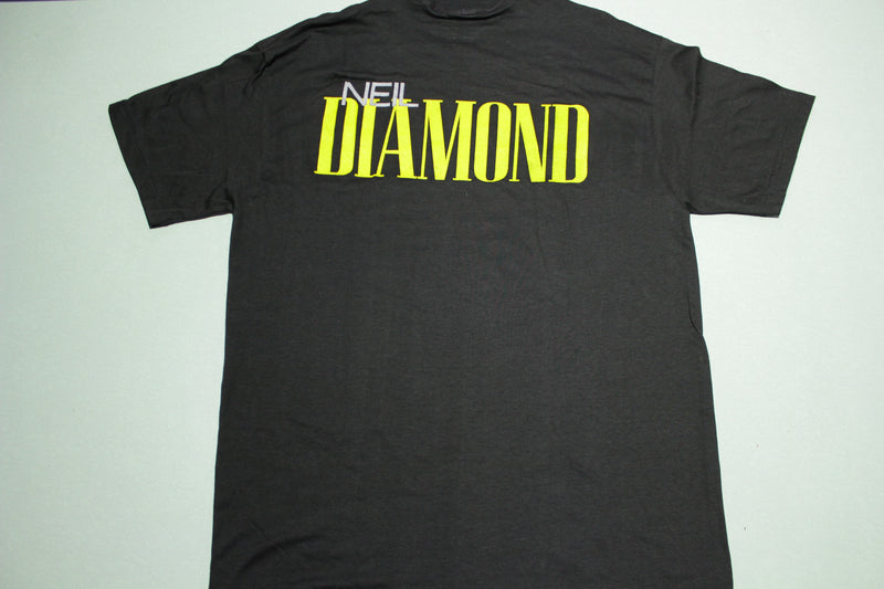 Neil Diamond Vintage 80's Spring Ford Big Spellout Single Stitch USA Deadstock T-Shirt