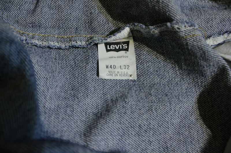 Levis Red Tab 554 Men's Large Vintage Faded Jeans 38x30 USA Made