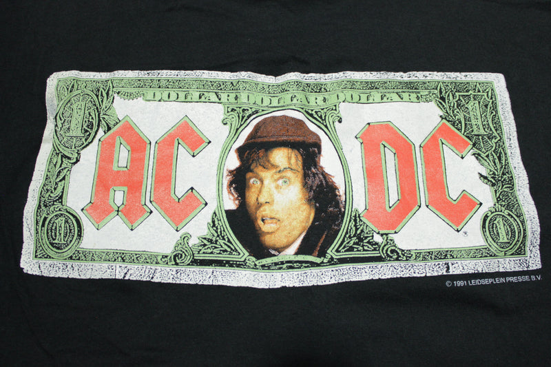 AC/DC Money Talks Vintage 90's 1991 Giant Tag Angus Single Stitch USA Deadstock T-Shirt