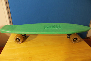 Scamp Green 1970's Vintage Skateboard. Sport Fun Supergrip Wheels.