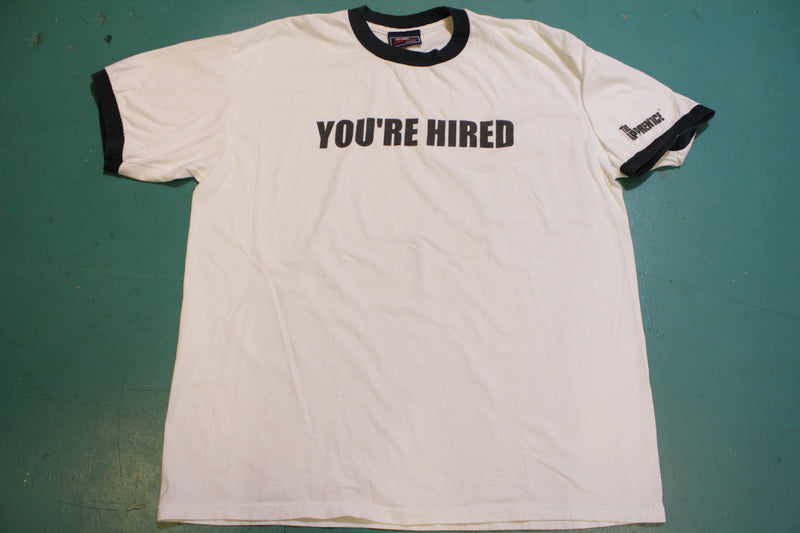 You're Hired The Apprentice Donald Trump 2004 NBC Store Promo T-Shirt