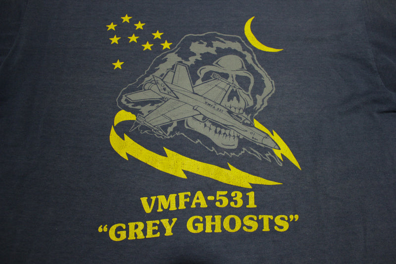 VMFA-531 Grey Ghosts F/A-18 Hornets Fighter Attack Jets Vintage 80's T-Shirt