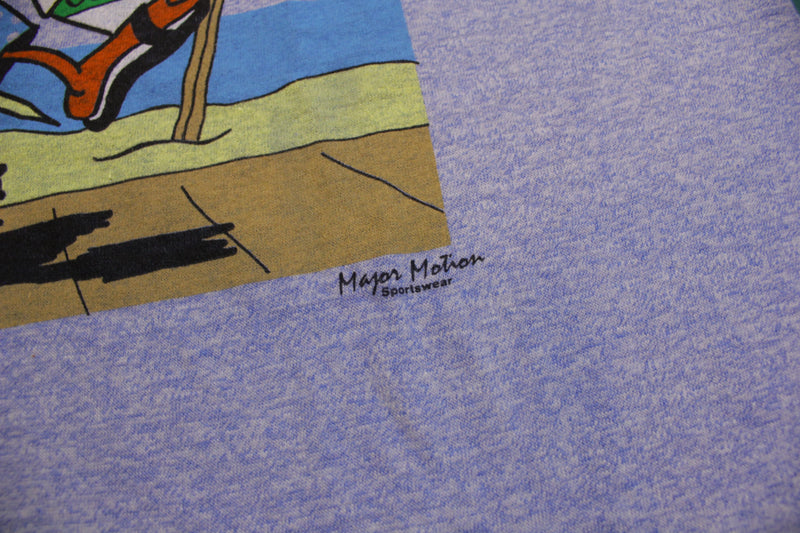 Just Ducky Vintage Major Motion 80's Screen Stars Single Stitch Ringer T-Shirt