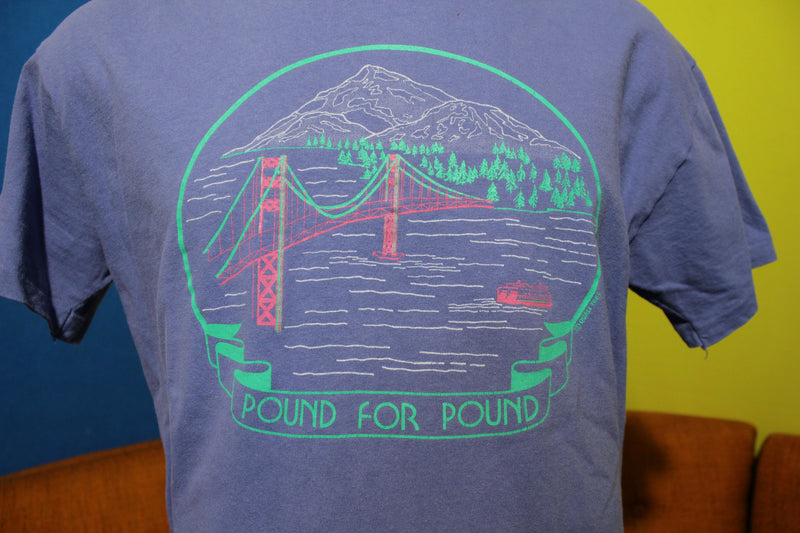 Tacoma Narrows Mt Rainier Pacific Northwest Vintage T-Shirt Pound Tee