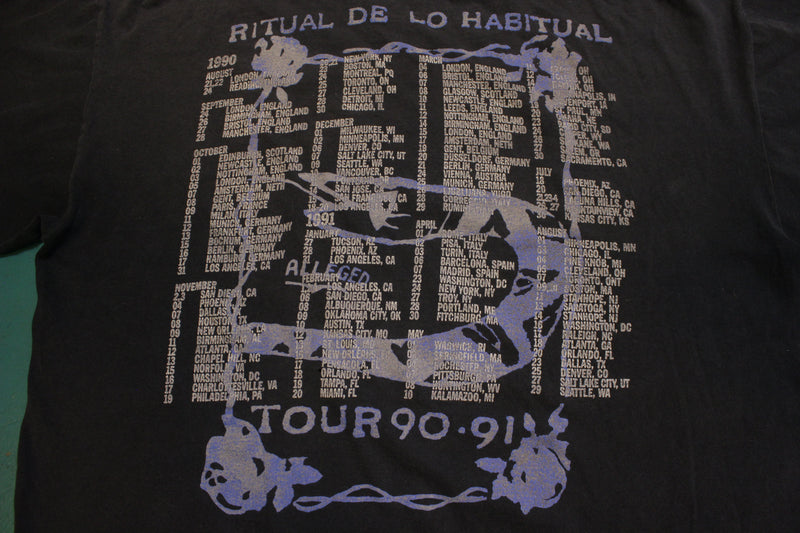 Janes Addiction Ritual De Lo Habitual Tour '90 '91 Vintage Single Stitch Brockum T-Shirt