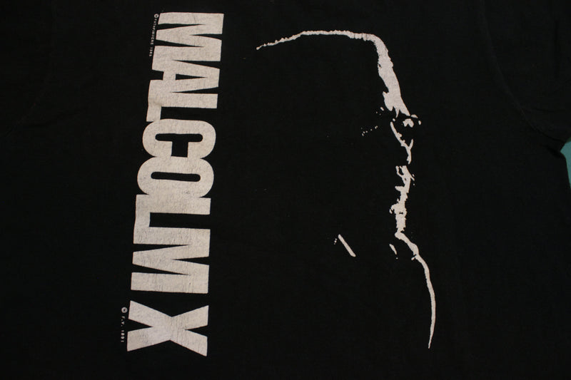 Malcolm X Vintage 1991 Single Stitch USA Fashion Victim T-Shirt