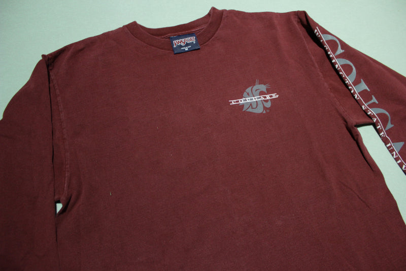 WSU Washington State Cougars Vintage 90's Made in USA Long Sleeve T-Shirt