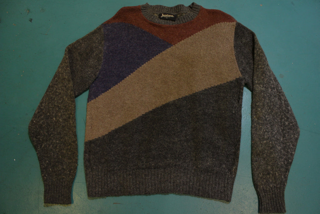 Jantzen Made in USA Black Label Vintage 80's Wool Sweater