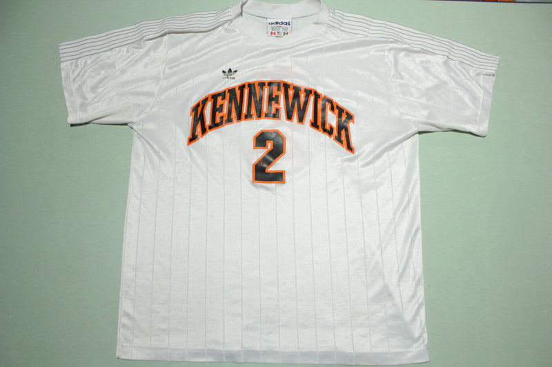 Kennewick Lions Vintage 80's 90's Adidas Trefoil 3 Leaf Logo Jersey Made in USA