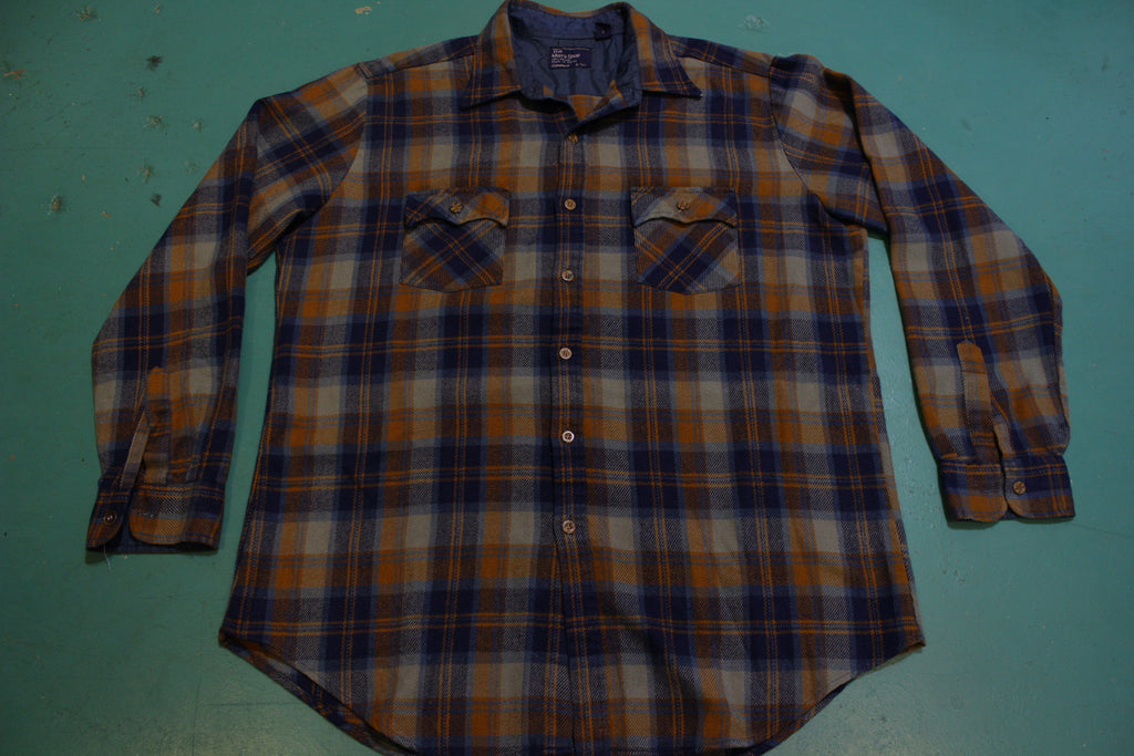 The Men's Shop JcPenney Vintage 80's  Button Up Western Wear Flannel Shirt