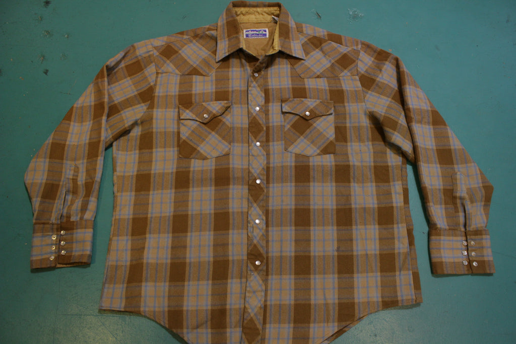 Contender Vintage 80's  Button Up Western Wear Flannel Shirt