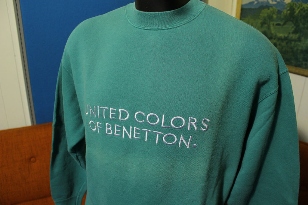 United Colors of Benetton Vintage Green Spain Embroidered Logo