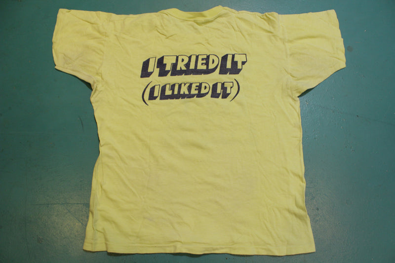 Try It You Will Like It Vintage Artex 70's Single Stitch Funny T-Shirt