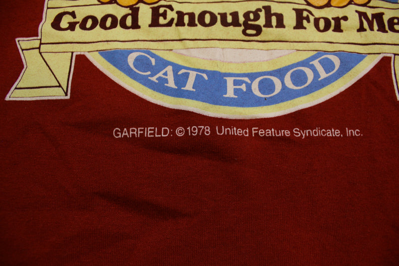 Alpo 1978 Vintage Deadstock Garfield Cat Food Single Stitch T-Shirt