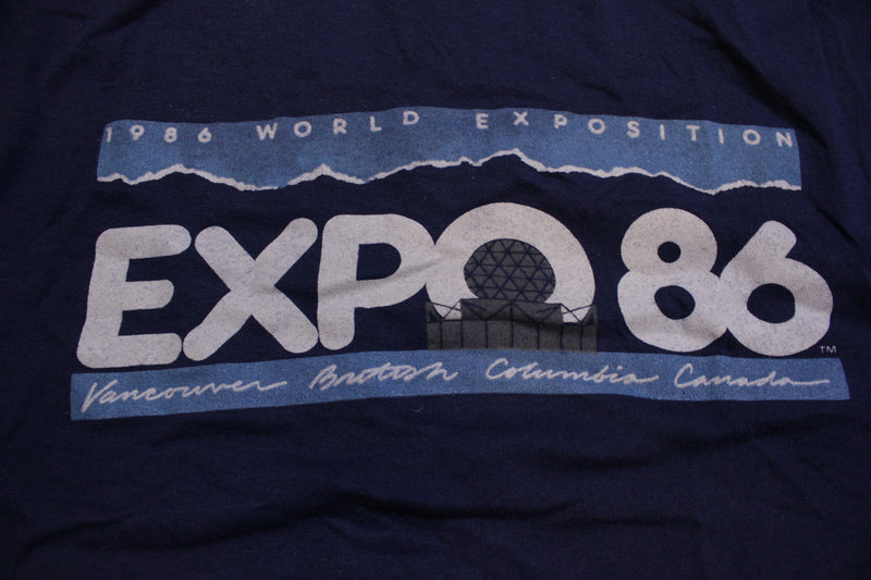 Expo 86 Vintage 1986 80's World's Fair Vancouver Canada Single Stitch T-Shirt