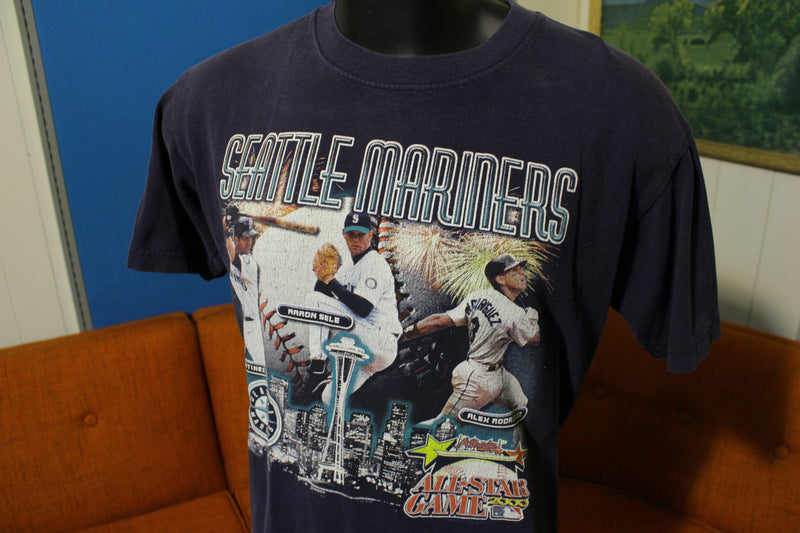 Edgar Martinez Alex Rodriguez Sele Seattle Mariners 2000 All Star Vtg T-Shirt