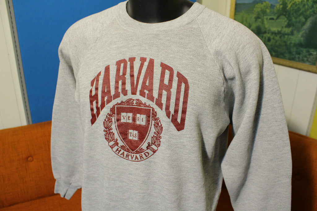 Harvard Veritas Arms Seal Of Approval Made in USA Vintage 80s Sweatshirt.