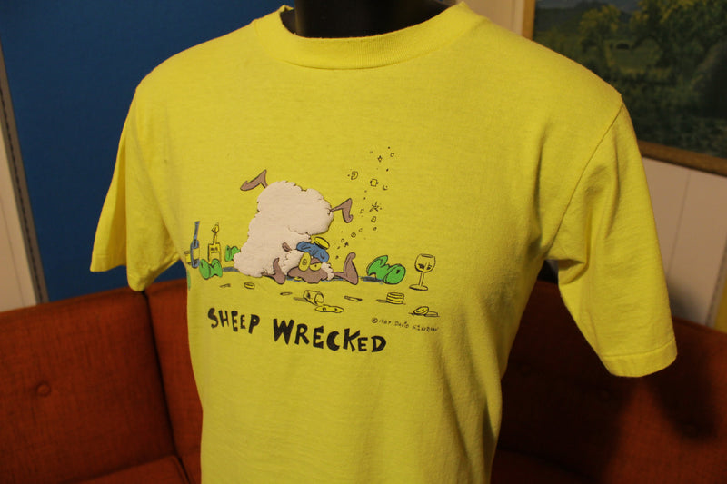 Sheep Wrecked 1987 David Silverman Simpsons Vintage 80s T-Shirt Tee